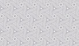 Naadloos patroon met roterende cijfers Optische illusie van beweging van vormen in ruimte vector illustratie