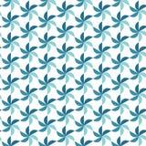 Naadloos patroon met roterende cijfers Optische illusie van beweging van vormen in ruimte stock illustratie