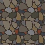 Naadloos patroon met rotsen Stock Afbeelding