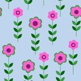 Naadloos patroon met roze bloemen Stock Afbeeldingen