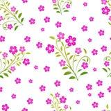 Naadloos patroon met roze bloemen Stock Fotografie