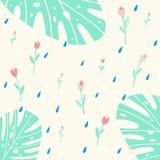 Naadloos patroon met roze bloemen vector illustratie