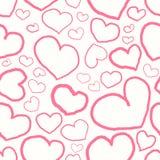 Naadloos patroon met roze harten royalty-vrije illustratie