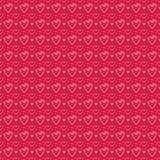 Naadloos patroon met roze harten Royalty-vrije Stock Fotografie