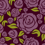 Naadloos patroon met roze rozen Stock Afbeelding