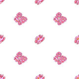 Naadloos patroon met roze rozen. royalty-vrije illustratie