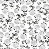 Naadloos patroon met rozen Stock Afbeeldingen