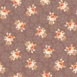 Naadloos patroon met rozen op een achtergrond van sneeuwvlokken royalty-vrije illustratie