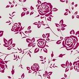 Naadloos patroon met rozen Vector bloemenachtergrond Stock Afbeeldingen