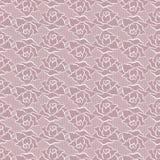 Naadloos patroon met rozen Vector illustratie Stock Fotografie
