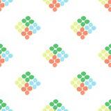 Naadloos patroon met ruit van cirkels op een witte achtergrond Stock Afbeeldingen