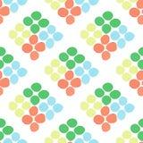 Naadloos patroon met ruit van cirkels op een witte achtergrond Stock Fotografie