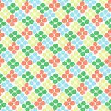 Naadloos patroon met ruit van cirkels op een witte achtergrond Stock Foto's