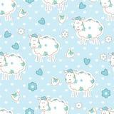 Naadloos patroon met schapen Stock Foto's