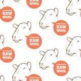 Naadloos patroon met schapen Stock Afbeeldingen