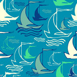 Naadloos patroon met schepen Royalty-vrije Stock Afbeeldingen