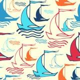 Naadloos patroon met schepen Stock Foto's
