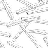 Naadloos patroon met schetsmatige kaneel Geschilderde kruiden royalty-vrije illustratie
