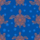 Naadloos patroon met schildpadden Royalty-vrije Stock Foto