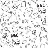 Naadloos patroon met schoolelementen Terug naar School vector illustratie