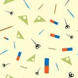 Naadloos patroon met schoollevering stock illustratie