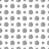 Naadloos patroon met Sepak Takraw Stock Foto's