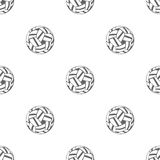 Naadloos patroon met Sepak Takraw Stock Fotografie