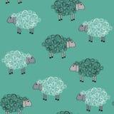Naadloos patroon met sheeps Stock Foto's