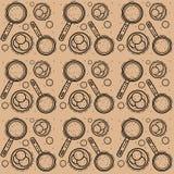 Naadloos patroon met Shrovetide-viering Illustratie van Maslenitsa-viering Stock Foto