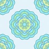 Naadloos patroon met sierbloemen in mooie zachte kleuren Vector illustratie Stock Foto