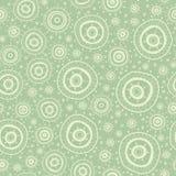 Naadloos patroon met silhouetten van oosterse mandalas Stock Foto's