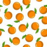 Naadloos patroon met sinaasappel royalty-vrije illustratie