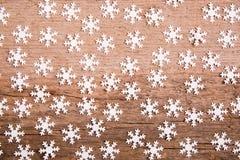 Naadloos patroon met sneeuwvlok Royalty-vrije Stock Afbeeldingen