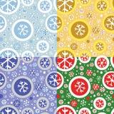 Naadloos patroon met sneeuwvlokken. Royalty-vrije Stock Afbeeldingen