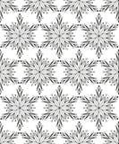 Naadloos patroon met sneeuwvlokken stock foto