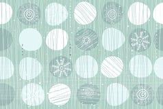 Naadloos patroon met sneeuwvlokken Royalty-vrije Stock Afbeeldingen