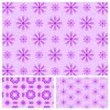 Naadloos patroon met sneeuwvlokken Royalty-vrije Stock Foto's