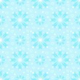 Naadloos patroon met sneeuwvlokken Stock Afbeelding