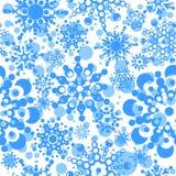 Naadloos patroon met sneeuwvlokken Stock Foto's