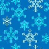 Naadloos patroon met sneeuwvlokken Royalty-vrije Stock Foto