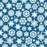 Naadloos patroon met sneeuwvlokken Royalty-vrije Stock Afbeelding