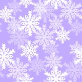 Naadloos patroon met met sneeuwvlokken Achtergrond voor gift het verpakken Decoratiestof Harmonische kleurencombinaties Stock Foto's