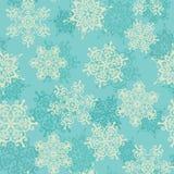 Naadloos patroon met sneeuwvlokken De achtergrond van de winter Stock Foto's
