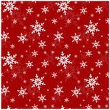 Naadloos patroon met sneeuwvlokken. Vectorillustratie. Stock Afbeeldingen