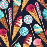 Naadloos patroon met snoepjes Royalty-vrije Stock Fotografie