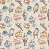 Naadloos patroon met snoepjes Stock Foto's