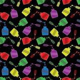 Naadloos patroon met spijkervernissen stock illustratie