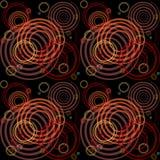 Naadloos patroon met spiraalvormige elementen. Stock Fotografie