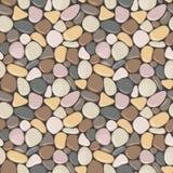 Naadloos patroon met stenen Vector naadloze achtergrond met vlotte kiezelsteen royalty-vrije illustratie