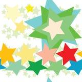 Naadloos patroon met sterren Royalty-vrije Stock Fotografie